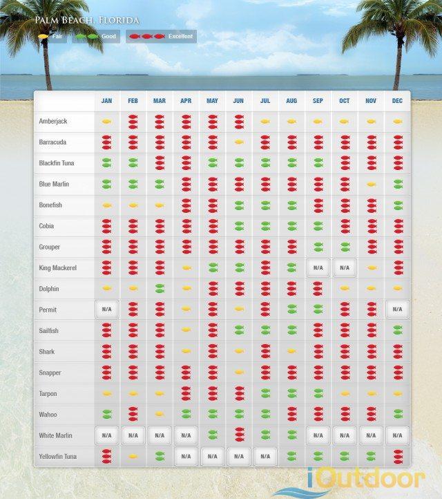 Palm Beach Fishing Calendar