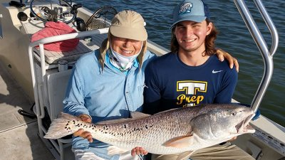 Over Sized Redfish Fishing Charter