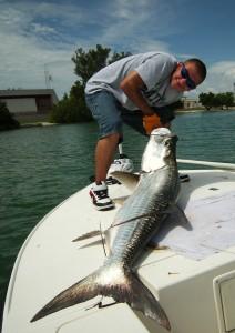 Joe as he caught his largest Tarpon ever….
